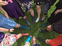 Hens Posh Frocks and Wellies activity